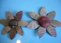 画像3: 大島紬の【花ボタン】2個組