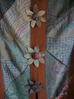 画像5: 大島紬の【花ボタン】2個組