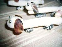 珊瑚の箸置き(5個組)   (ダックスフンド)